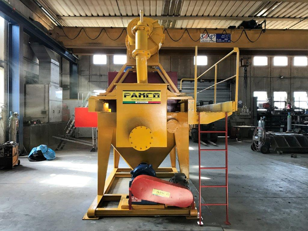Gruppo recupero sabbia omf tsf3000 5 2 1 omf macchine for Idrociclone per sabbia usato